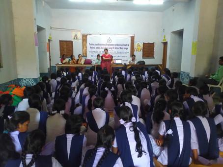 Training cum Awareness Programme on Menstrual Health & Hygiene among the school going ST Girls