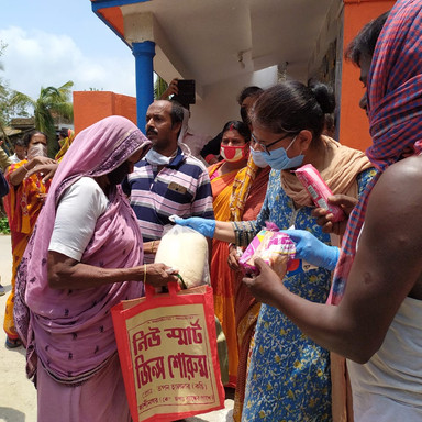 Food Distribution at Mathurapur, Sundarban