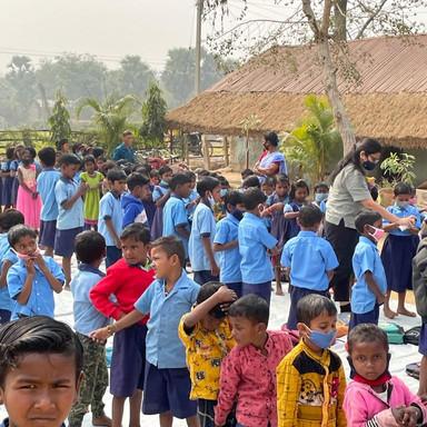 Relief Fund for School Children at Jan Gangie Village
