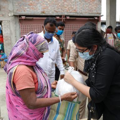 Food Distribution at Sundarban