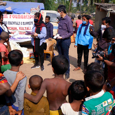 Relief Help at Kultali Village