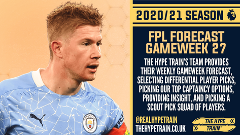 Premier League 2020/21: FPL Gameweek 27 Fantasy Forecast