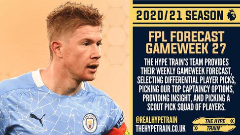 Premier League 2020/21: FPL Gameweek 27 Fantasy Forecast