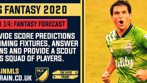 MLS Fantasy 2020: Week 14 Fantasy Forecast