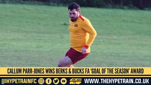 Hype Train FC Award: Callum Parr-Jones wins Berks & Bucks FA 2019/20 Goal of the Season Award