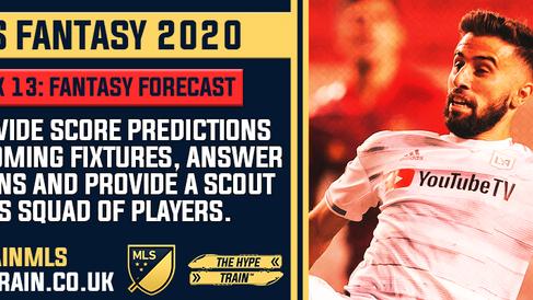 MLS Fantasy 2020: Week 13 Fantasy Forecast