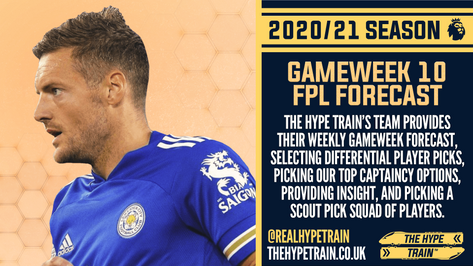 Premier League 2020/21: FPL Gameweek 10 Fantasy Forecast