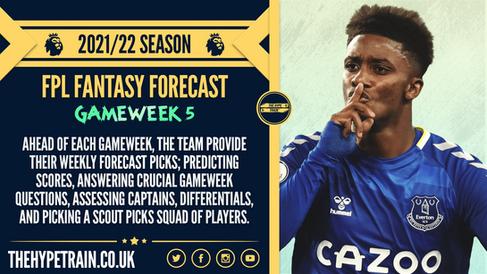 Premier League 2021/22 Season: FPL Gameweek 5 Fantasy Forecast