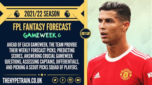 Premier League 2021/22 Season: FPL Gameweek 6 Fantasy Forecast