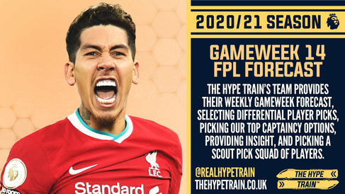 Premier League 2020/21: FPL Gameweek 14 Fantasy Forecast