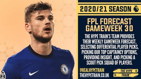 Premier League 2020/21: FPL Gameweek 30 Fantasy Forecast