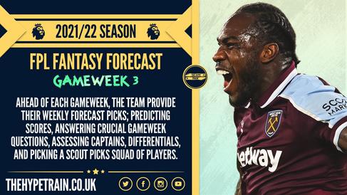 Premier League 2021/22 Season: FPL Gameweek 3 Fantasy Forecast