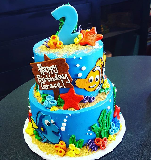 Ocean inspired Birthday Cake #buttercrea