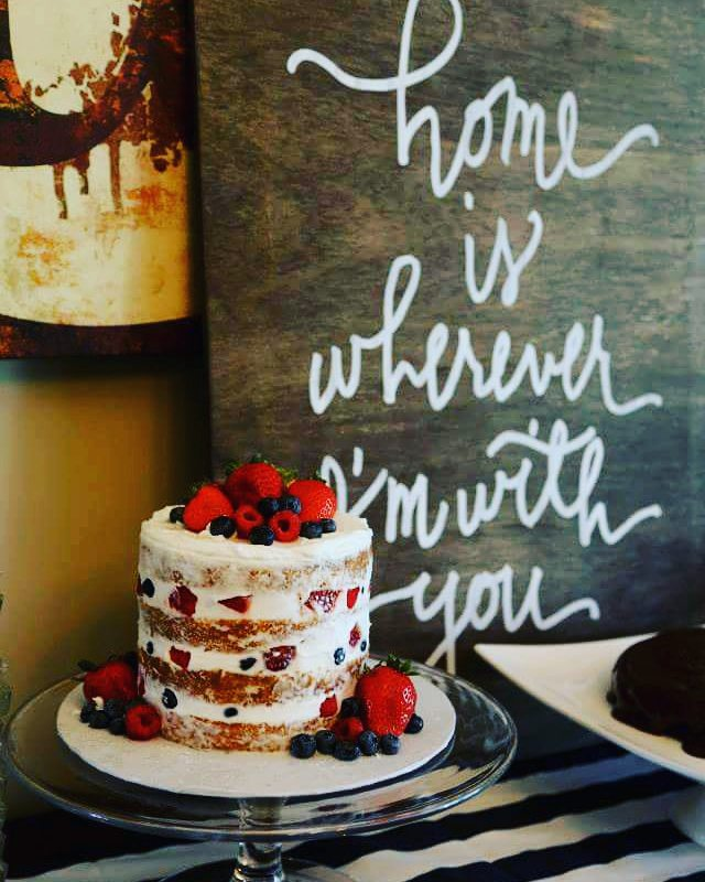 #nakedcake #fresh #berries