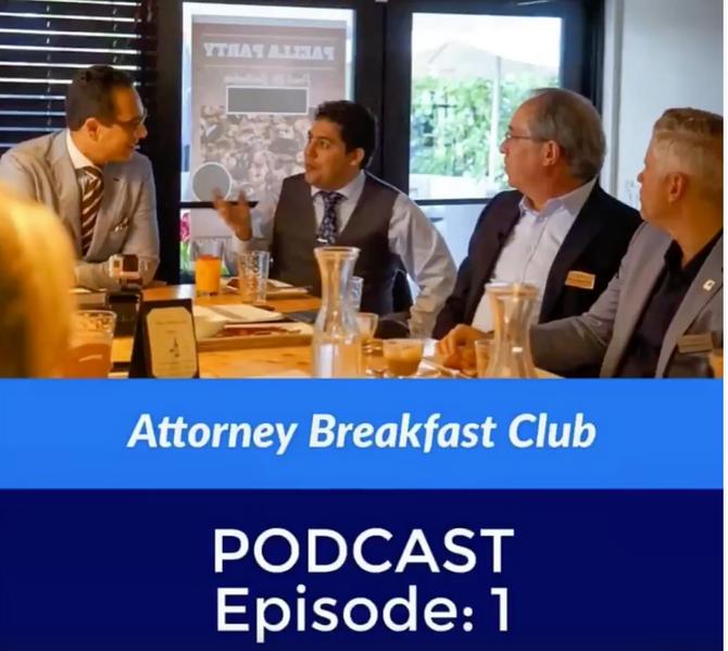 "Managing Partner Richard Montes de Oca at Attorney Breakfast Club networking meeting talks about ""Th"
