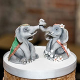 Elephant couple wedding cake topper by HD Cakes