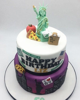 New York USA Birthday cake, Leeds, Yorkshire, HD Cakes