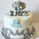Cute Baby Elephant Christening baby shower cake for celebration in Leeds Yorkshire
