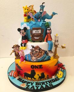 Disney Birthday Cake, Leeds Yorkshire Cake, HD Cakes