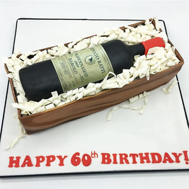 Wine Bottle Birthday Cake, Leeds Yorkshire HD Cakes