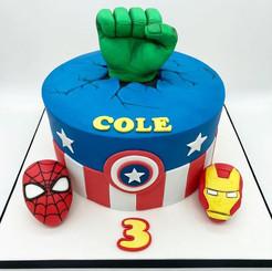 Superhero Marvel Birthday Cake, Leeds, Yorkshire, HD Cakes