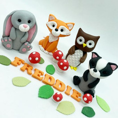 Woodland Animals Birthday Cake Topper, HD Cake Toppers, HD Cakes, Leeds, Yorkshire
