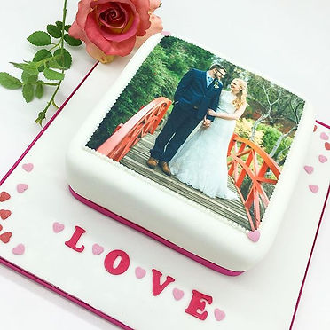 Valentine's Day personalised cake edible photo by HD Cakes Leeds