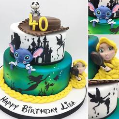 Bespoke custom Disney birthday cake, leeds, yorkshire, HD Cakes