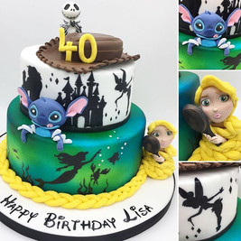 Bespoke custom Disney birthday cake, leeds, yorkshire, HD Cakes