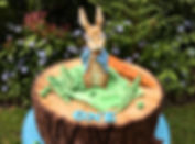 The full Peter Rabbit cake, with special