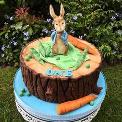 Peter Rabbit Birthday Christening Cake, Leeds, Yorkshire, HD Cakes
