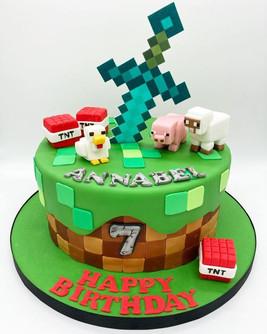 Minecraft Birthday Cake, Leeds, Yorkshire, HD Cakes