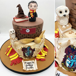 2 tier Harry Potter Birthday Cake, Leeds, Yorkshire, HD Cakes