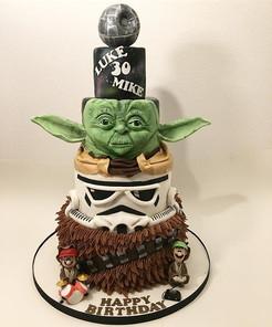 Star Wars 4 tier Birthday Cake, Leeds Yorkshire HD Cakes