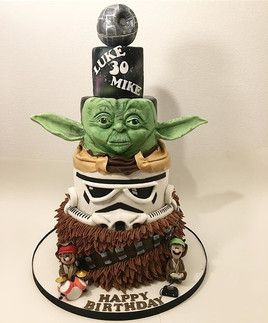 Star Wars 4 tier Birthday Cake, Leeds Yorkshire HD Cakes