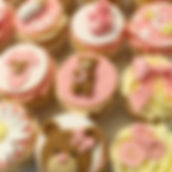 Cupcakes pink tddy cute baby showe