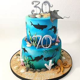 Under the Sea Cake, Cakes Leeds Yorskhire, Scuba Diver Cake, HD Cakes