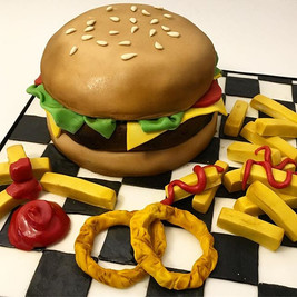Burger Fast Food McDonalds Birthday Cake, Leeds Yorkshire HD Cakes