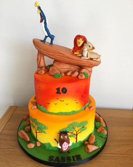 2 tier Lion King Cake, Leeds, Yorkshire, HD Cakes