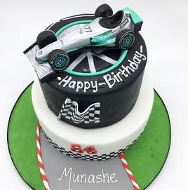 F1 McLaren Racing Car Birthday Cake, boys cake Leeds Yorkshire HD Cakes