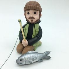 Custom figurine fisherman Birthday Cake Topper, HD Cake Toppers, HD Cakes, Leeds, Yorkshire