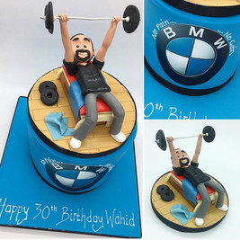Fitness, BMW Cars, Birthday cake for him, HD Cakes, Leeds, Yorkshire