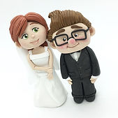 Ellie and Carl wedding cake toppers 😍_.