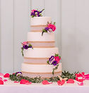 Pretty floral wedding cake fresh flowers in Leeds Yorkshire