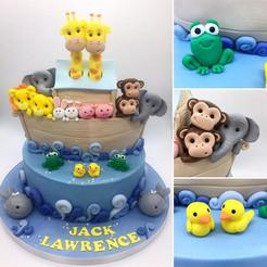 Jungle animal noah's ark christening cake Birthday Cake, Leeds, Yorkshire, HD Cakes
