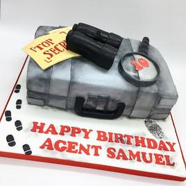 Spy Secret Agent Birthday Cake, Leeds Yorkshire HD Cakes