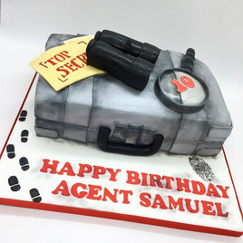 Spy Secret Agent Birthday Cake, Leeds Yorkshire HD Cakes