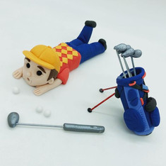 Golfer Birthday Cake Topper, HD Cake Toppers, HD Cakes, Leeds, Yorkshire