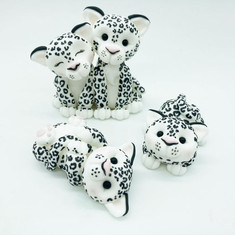 Snow Leopard animal Birthday Cake Topper, HD Cake Toppers, HD Cakes, Leeds, Yorkshire