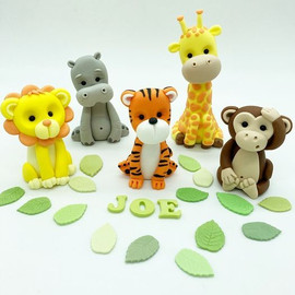 Jungle Safari Animals Birthday Cake Topper, HD Cake Toppers, HD Cakes, Leeds, Yorkshire